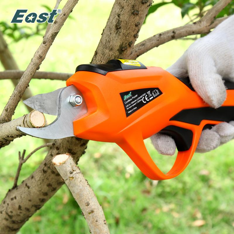 Garden Hand Pruning Tools EAST Power Tools 3.6V Li-ion Battery Cordless Secateur Branch Cutter Electric Fruit Pruning Tool Shear to Ol