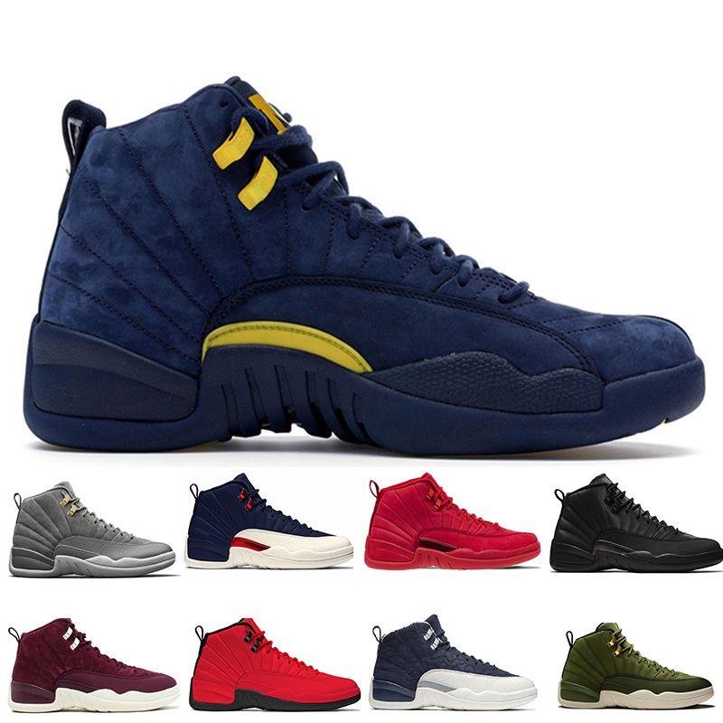2ec6c67565fa 12 12s Gym Red Bulls Mens Basketball Shoes Michigan International ...