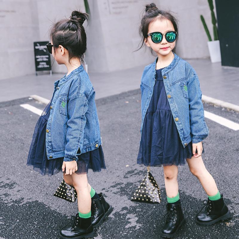 3f1da44abe183 Acheter Vêtements Pour Enfants 2019 Printemps Et Automne Enfant Féminin  Denim Vêtements De Dessus Filles Veste Vêtements De Mode De  33.63 Du  Nextbest06 ...