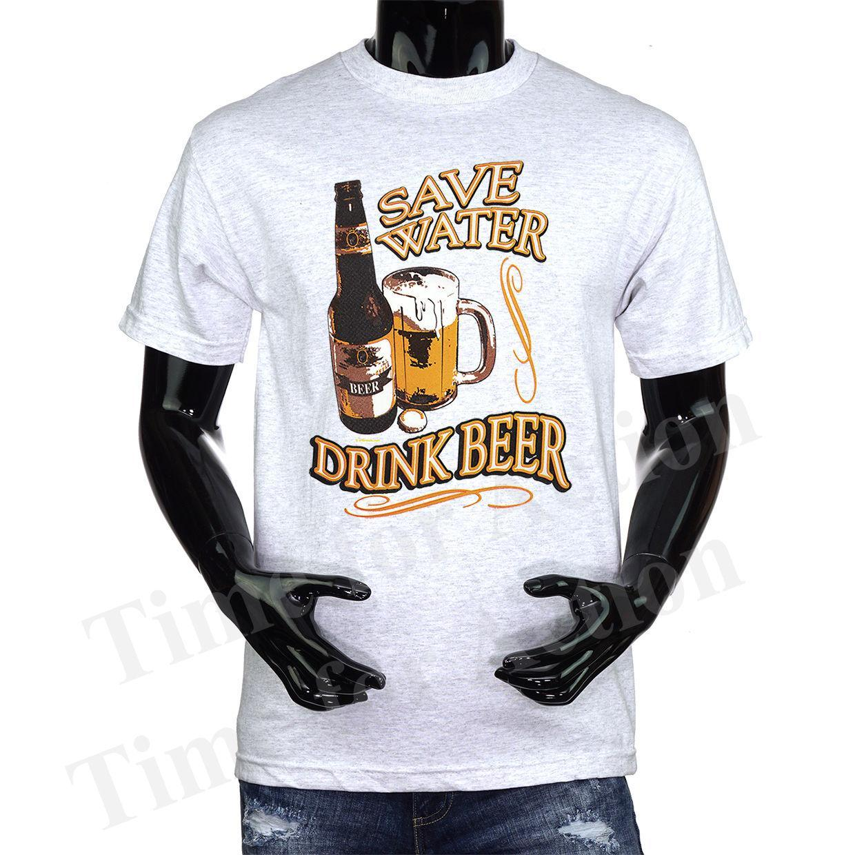 641c207d Save Water Drink Beer Funny Joke Humor T Shirt Summer Short Sleeve Shirts  Tops S~3Xl Big Size Cotton Tees Funny Printed T Shirts Cool Tee From Jie70,  ...