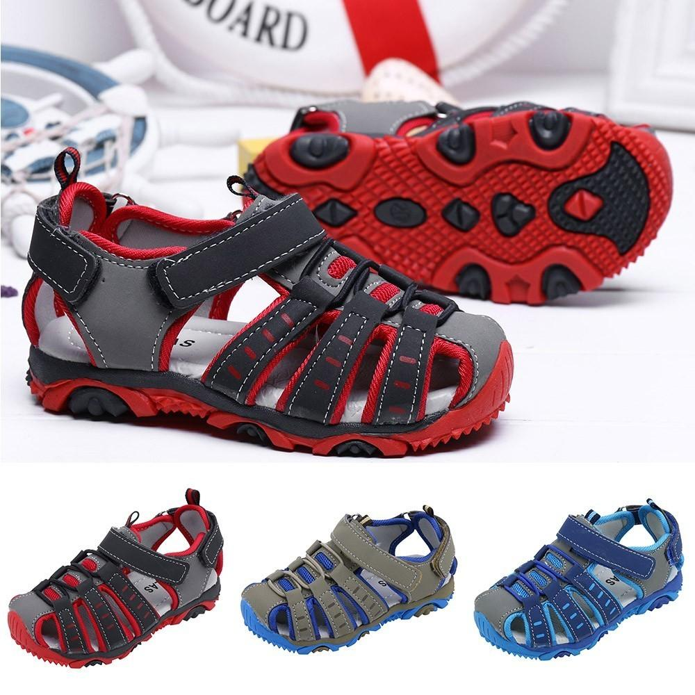 Telotuny Baby Boys Children Kids Boy Girl Closed Toe Summer Beach Sandals Shoes Sneakers #40 Q190601