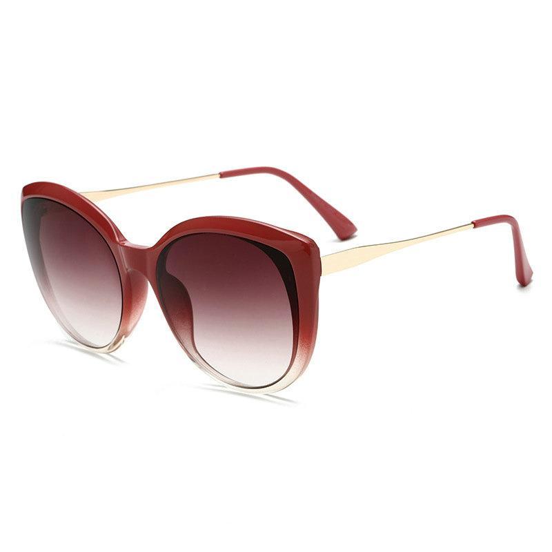 87546ee5e79c MINCL  2018 Oversized Round Sunglasses Women Cute Sexy Female Retro Cat Sun Glasses  Vintage 90s Pink Glasses Red Eyewear NX Victoria Beckham Sunglasses ...