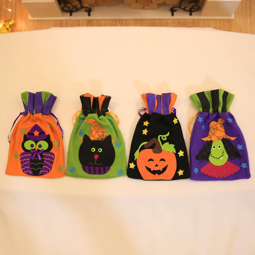 94afceecf Compre 4 Diseños Bolsas De Regalo De Halloween Para Niños Cajas De Regalo  De Calabaza Para Niños Dulces De Fiesta Bolsas Para La Fiesta De Halloween  A ...