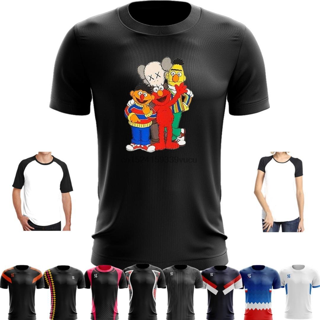 42baa4c036e 2019 Sport Quick Dry Running Basketball Training T Shirt KAWS X SESAME  STREET GRAPHIC Shirt M Mens T 2018 S For Man Sleeve Harajuku From Hougo