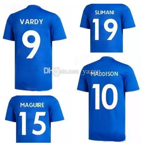 18 19 Leicester City Personalizó Las Camisetas De Camisetas De Fútbol De  Calidad Tailandesas af2f853735803