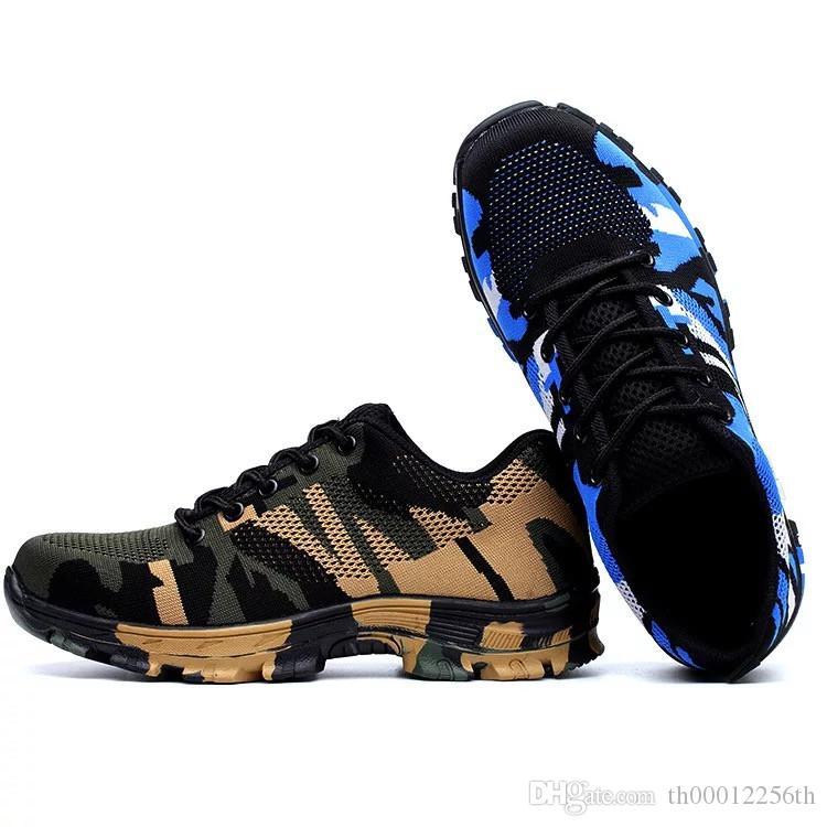 design intemporel e7988 638ee Style de sport respirant bout en acier résistant à la crevaison chaussures  de sécurité travail en plein air chaussures de sécurité Insualtion travail  ...