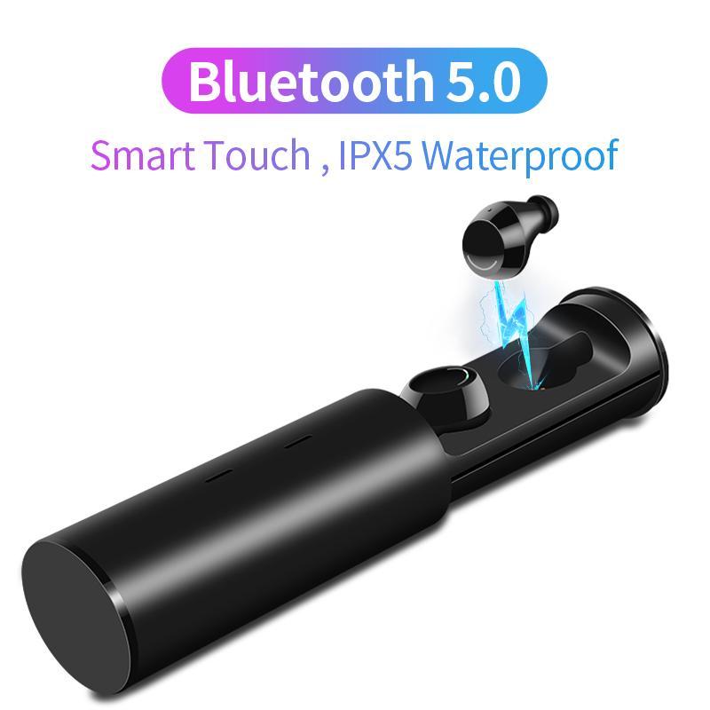 e53d55ee0208 Mini Bluetooth V5.0 Earphones 3D Stereo Wireless Earphones HiFi Deep ...