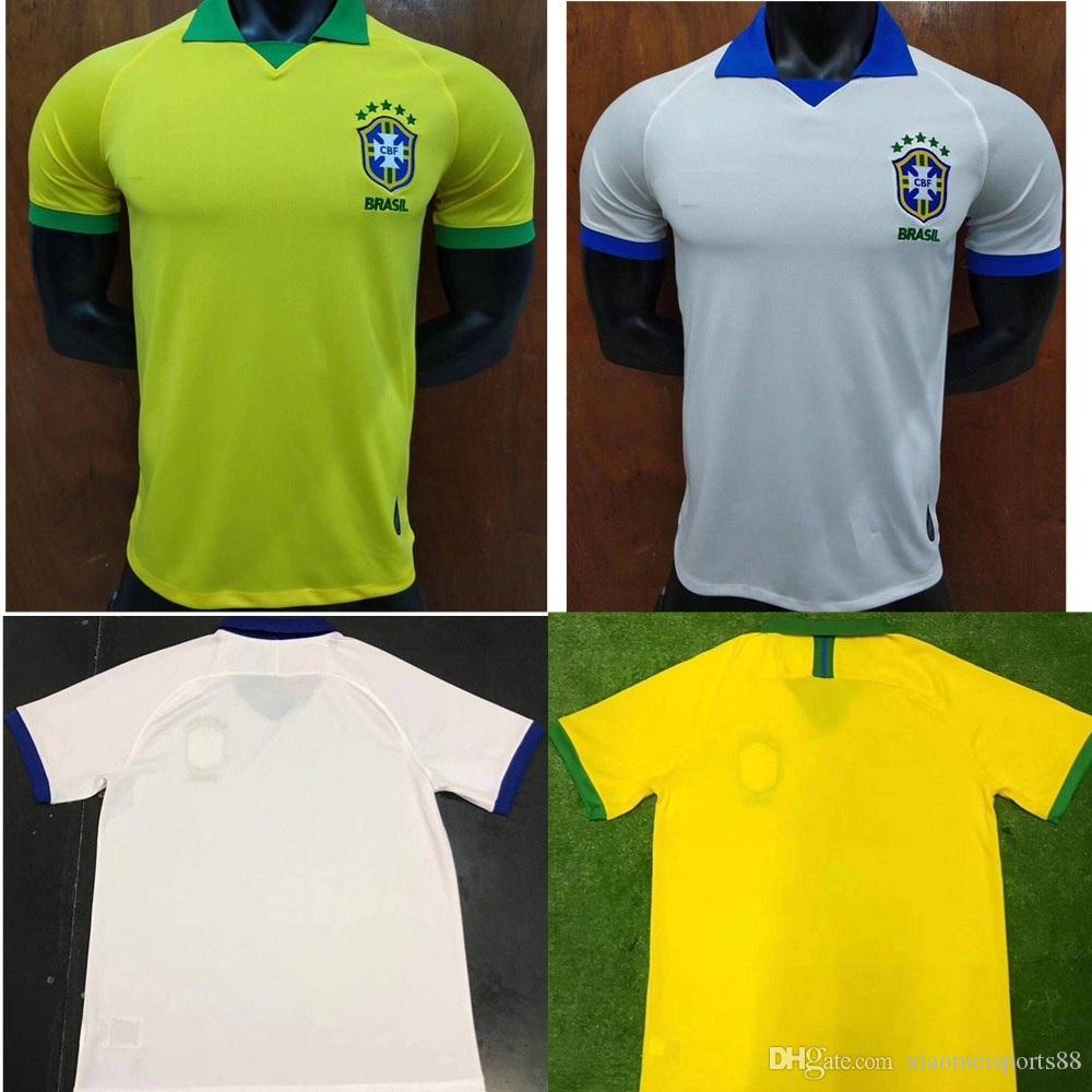 20b61719a 2019 2019 2020 Brasil Soccer Jerseys Men Brazil Jersey 19 20 JESUS COUTINHO  FIRMINO MARCELO Football Kit Shirt Camisa Football Shirt G.JESUS From ...