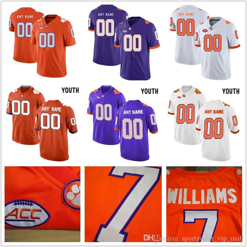 b3c2a031e93 2019 Men And YOUTH Clemson Tigers Custom Jersey Stitched Personalized WHITE  ORANGE PURPLE Customized College Football Jerseys From Sportswear vip mall