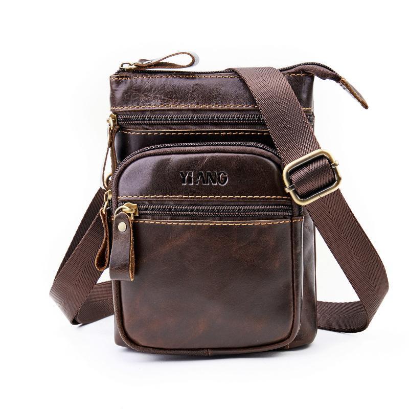 0ee50f3d83f 2019 New Fashion Leather Messenger Bag Men'S Genuine Leather Shoulder Bag  For Men Fashion Male Crossbody Bags Handbags Over The Shoulder Bags Ivanka  Trump ...