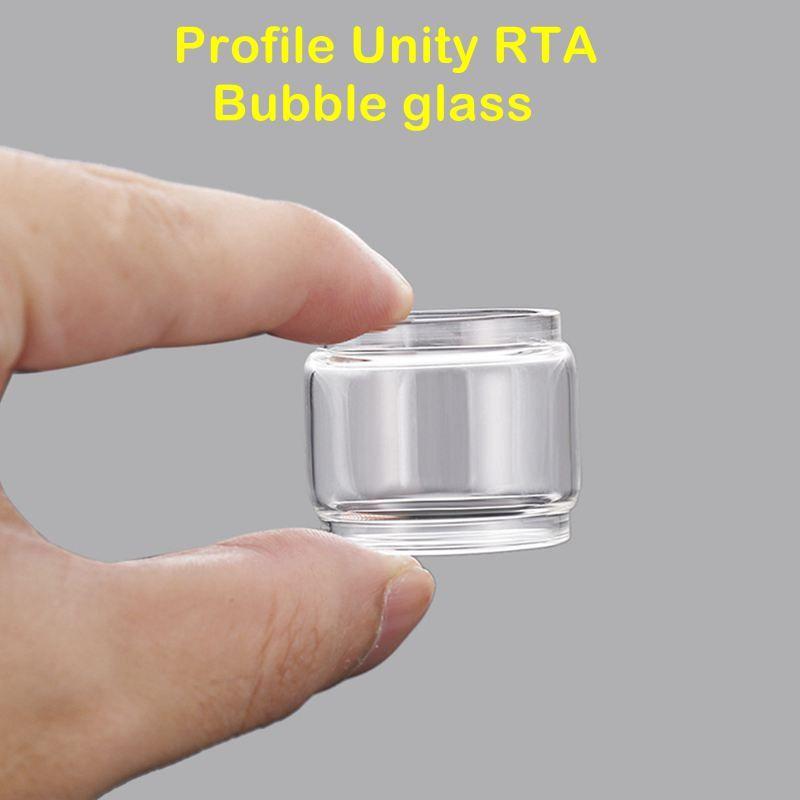 Fit Wotofo Profile Unity RTA replacement bubble glass tube tank wholesales  price vape blub glass tank wholesale price