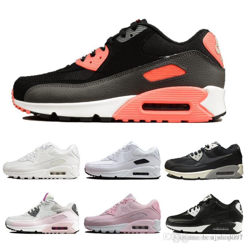 90 Zapatillas de running WMNS Moda para mujer para hombre Diseñador de aire ESENCIAL Zapatillas deportivas Entrenadores al aire libre Zapatillas para