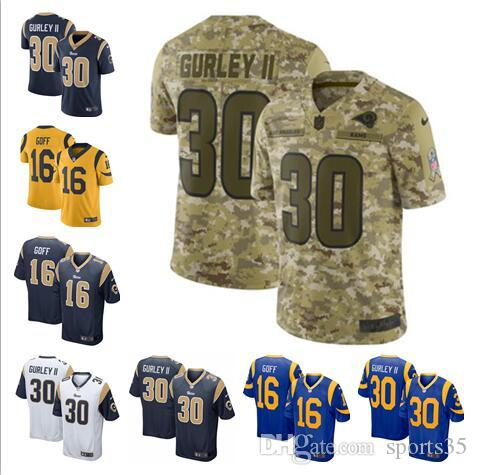 finest selection 7d0a3 ff868 Aaron Donald jersey Rams Todd Gurley II Jared Goff Los Angeles camo salute  to service custom american football jerseys cheap limited 4xl