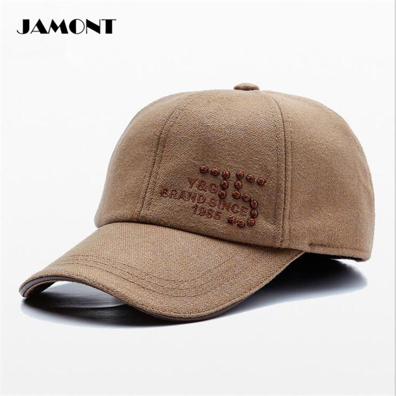 2019 JAMONT Autumn Winter Golf Caps With Earflaps Hat Adjustable Outdoor  Sport Thicken Hat Unisex For Man From Tianmaoku ae67f7e3f8f