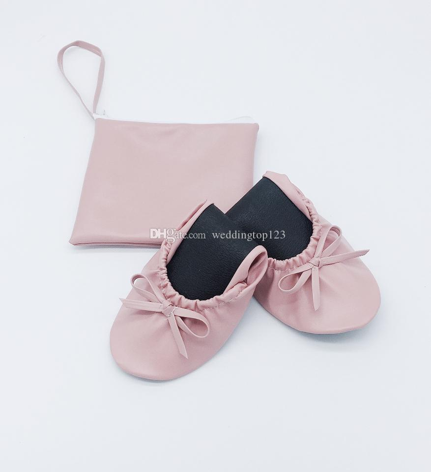 6d98f0c2f226 2019 Spring Women Ballerina Style Roll Up Foldable Ballet Shoes ...