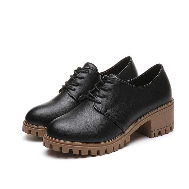 9905ea6d Compre Zapatos De Vestir De Diseñador Inglaterra Estilo Oxfords De Moda  Para Mujer Otoño Punk Negro Calzado Mujer Punta Redonda Plataforma Casual  Vintage ...