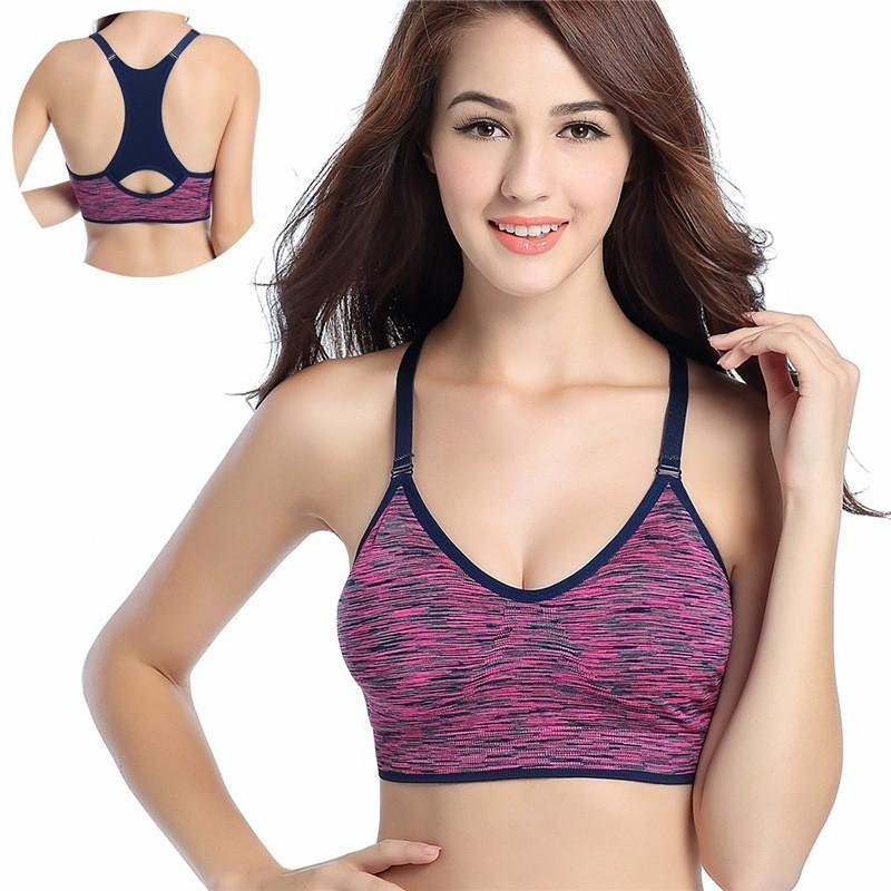 efdbbc29e03 2019 Women Training Sports Bras Fitness Top Shockproof Shapes Quick Dry  Running Athletic Vest Adjustable Underwear Push Up Yoga Bra From  Yiquanwater