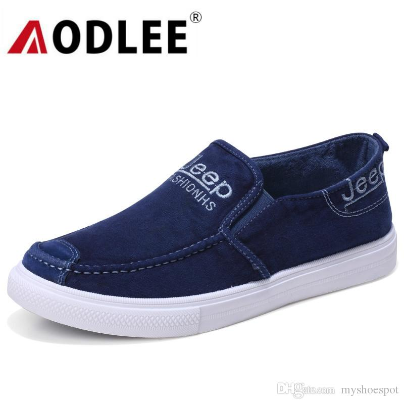 b99eef06aca AODLEE 2019 Sneakers Men Casual Canvas Shoes Light Breathable Spring Men  Sneakers Slip On Loafers Fashion Mens Shoes Casual  338919 Cheap Shoes For  Men ...