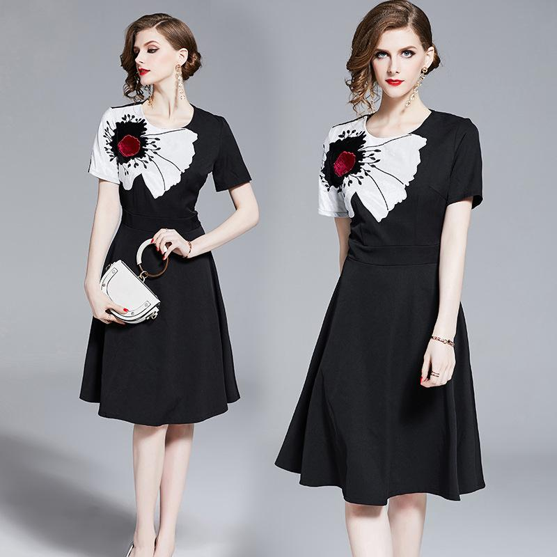 4cca6f00a0dd New Summer Women Dresses Clothes European Show Short Sleeve Small Fragrance  High Waist Slim And Big Show Fashion Cocktail Dresses For Ladies Short  Party ...