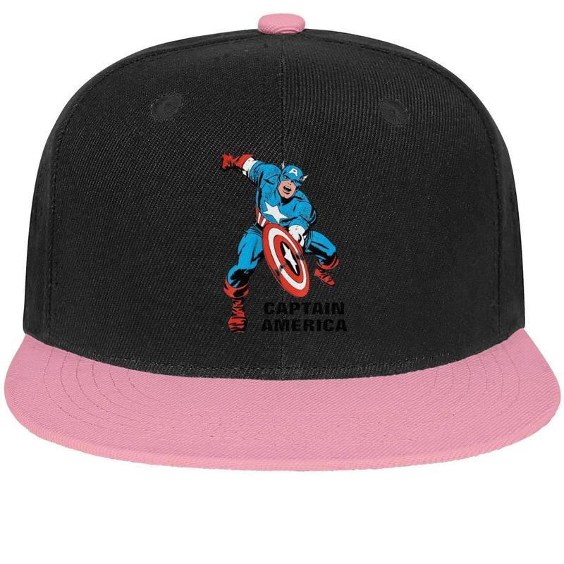 023ada543 Captain America Wall decal Sticker Unisex Man Hats Woman s Hat Vintage  Cotton Snapback Flatbrim Athletic Hats Baseball Caps for Women
