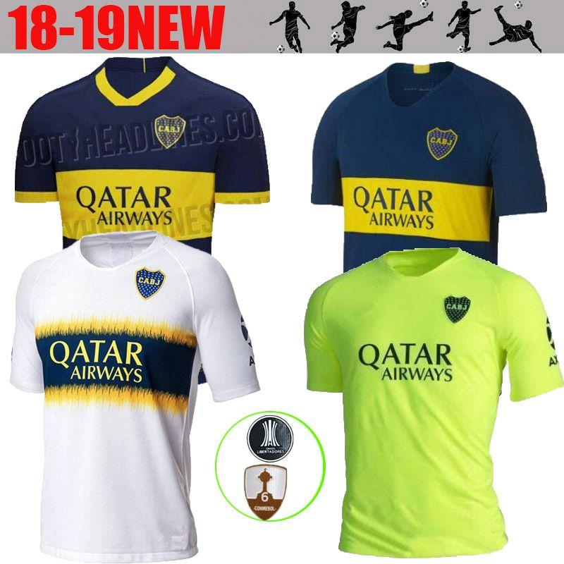 562b125344 Compre 2019 2020 Novo Boca Juniors Casa Camisa De Futebol Azul Boca Juniors  Longe Camisa De Futebol Branco 2020 Uniformes De Futebol Vendas Thai  Qualidade ...