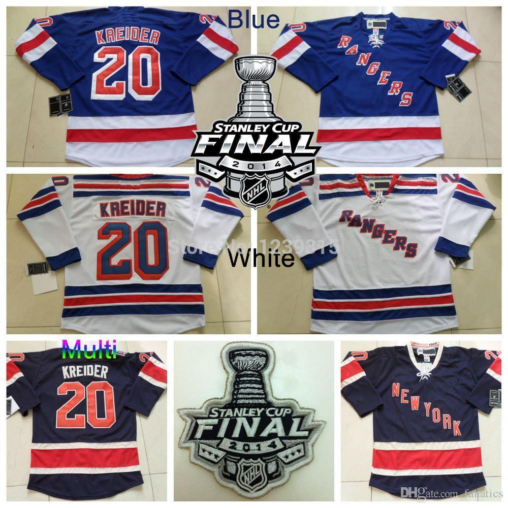 outlet store 37dc3 4caff 2016 Stanley Cup Finals New York Rangers #20 Chris Kreider Jersey Home Blue  Road White Alternate Navy Blue 85th Hockey Jerseys