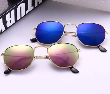 eafbc1889ae Fashion Hexagonal Sunglasses 51mm Women Men Brand Designer Vintage ...