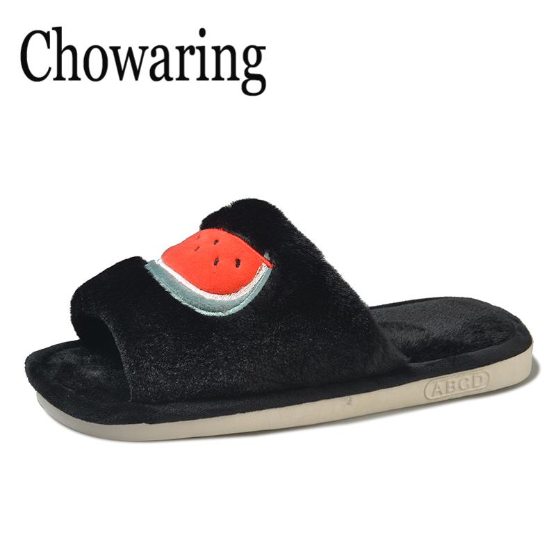 5da15abcdcbf9 2018 Chinelos De Ver O Feminina Zapatos Mujer Womens Ladies Slip On Sliders  Fluffy Faux Fur Flat Slipper Flip Flop Sandal Wedge Shoes Flat Shoes From  ...