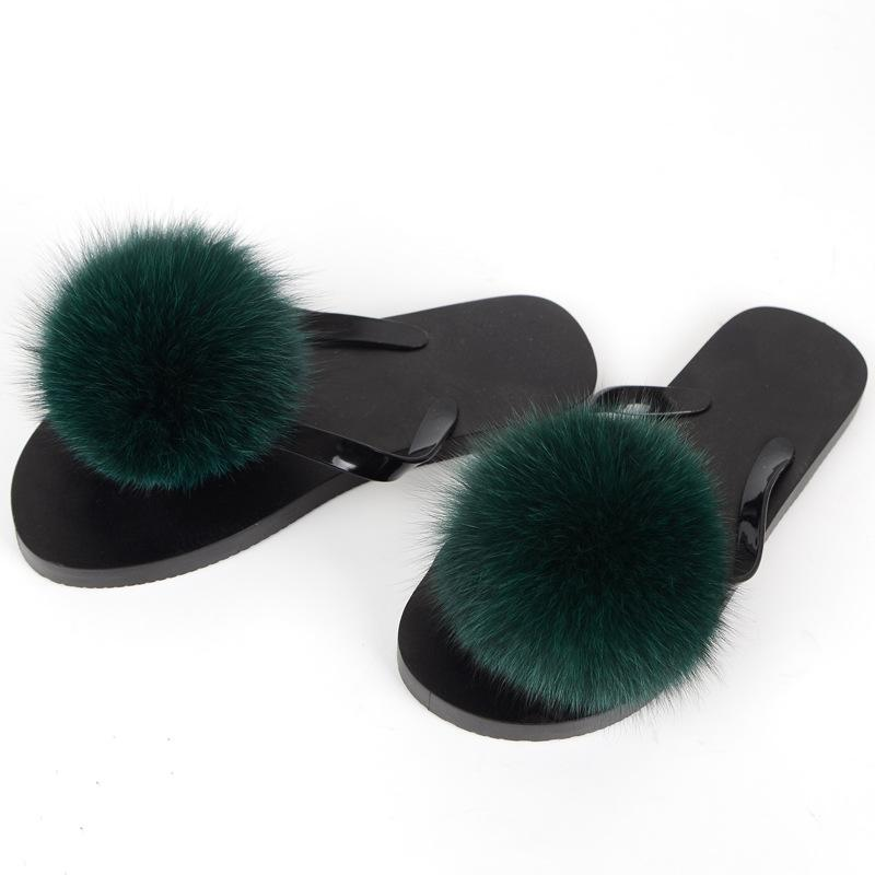 eaf4fa8318e3 Hot Sellers Women Real Fur Slippers Luxury Real Fox Fur Shoes Silvery Shoe  Sole Slippers Fluffy Comfy Furry Fox Hair Ball Thigh High Boots Booties  From ...