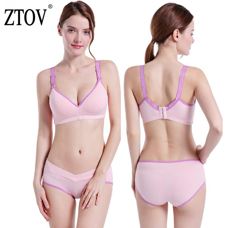 c0ad6697b ZTOV Nursing Bra+Panty Set Maternity Nursing bra for Feeding Pregnancy  Underwear Clothes for Pregnant Women Breastfeeding Bras