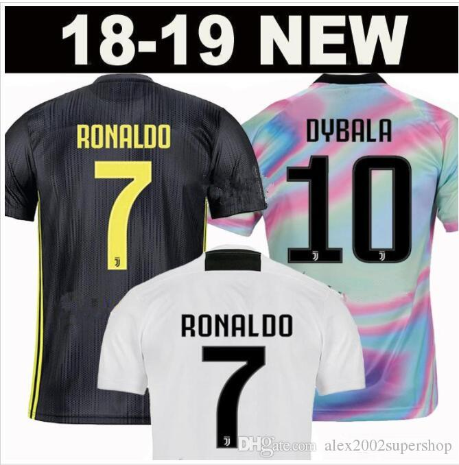 competitive price 44958 2ba37 #7 RONALDO home third Kit Men Jerseys New 2019 2020 DYBALA EA SPORTS JERSEY  MANDZUKIC Shirts