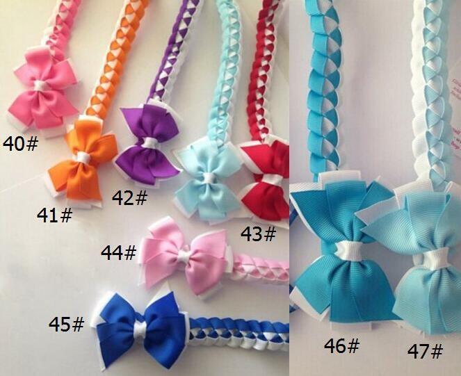 Updo hair Bun wraps bows clips Head Wrap gingham Hair band Headbands for girl women Hair Extensions Full Snood Accessories PD020