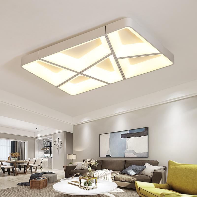 Moderna Plafoniera LED Lamp for living room lamparas de techo colgante  moderna Plafoniera per camera da letto Rettangolo