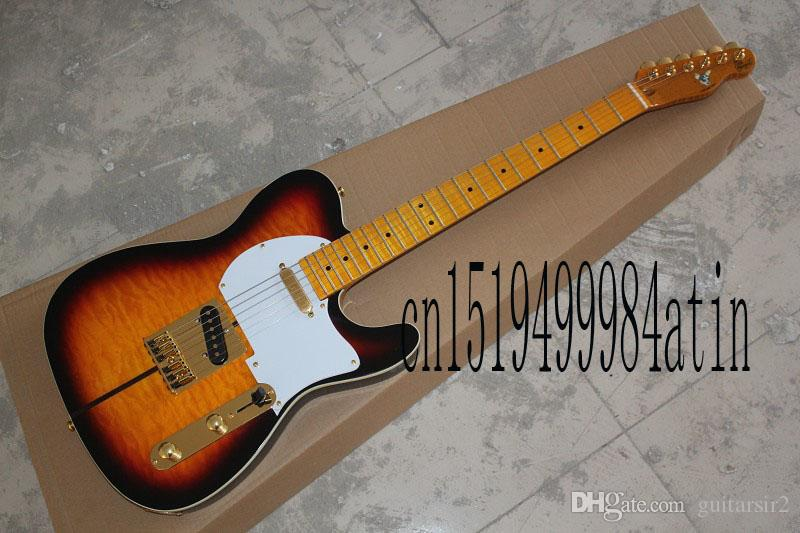 2019 Free Shipping Top Quality Telecaster Sunburst Custom Shop TUFF DOG TELE Signature Electric Guitar Golden Hardware