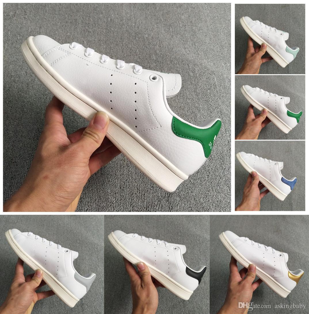077d910e702 Acheter Adidas Stan Smith Chaussures De Sport Pas Cher Raf Simons Stan  Smiths Printemps Cuivre Blanc Rose Noir Mode Homme Cuir Marque Femme Homme  Chaussures ...