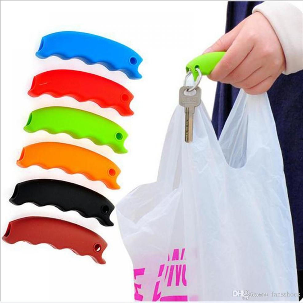 Silicone Hooks For Hanging Handbag Basket Shopping Bag Holder Carry Bag Handle Comfortable Grip Protect Hand Tools #89987