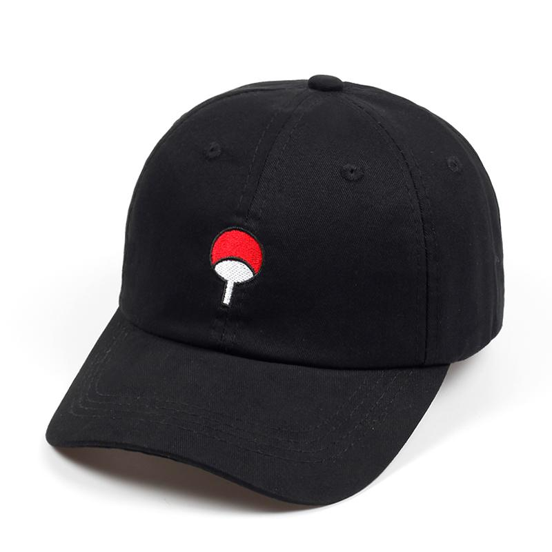 cd4fe73d55a98 100% Cotton Japanese Anime Naruto Dad Hat Uchiha Family Logo Embroidery  Baseball Caps Black Snapback Hat Hip Hop For Women Men D19011502 Cool Caps  Flat Brim ...