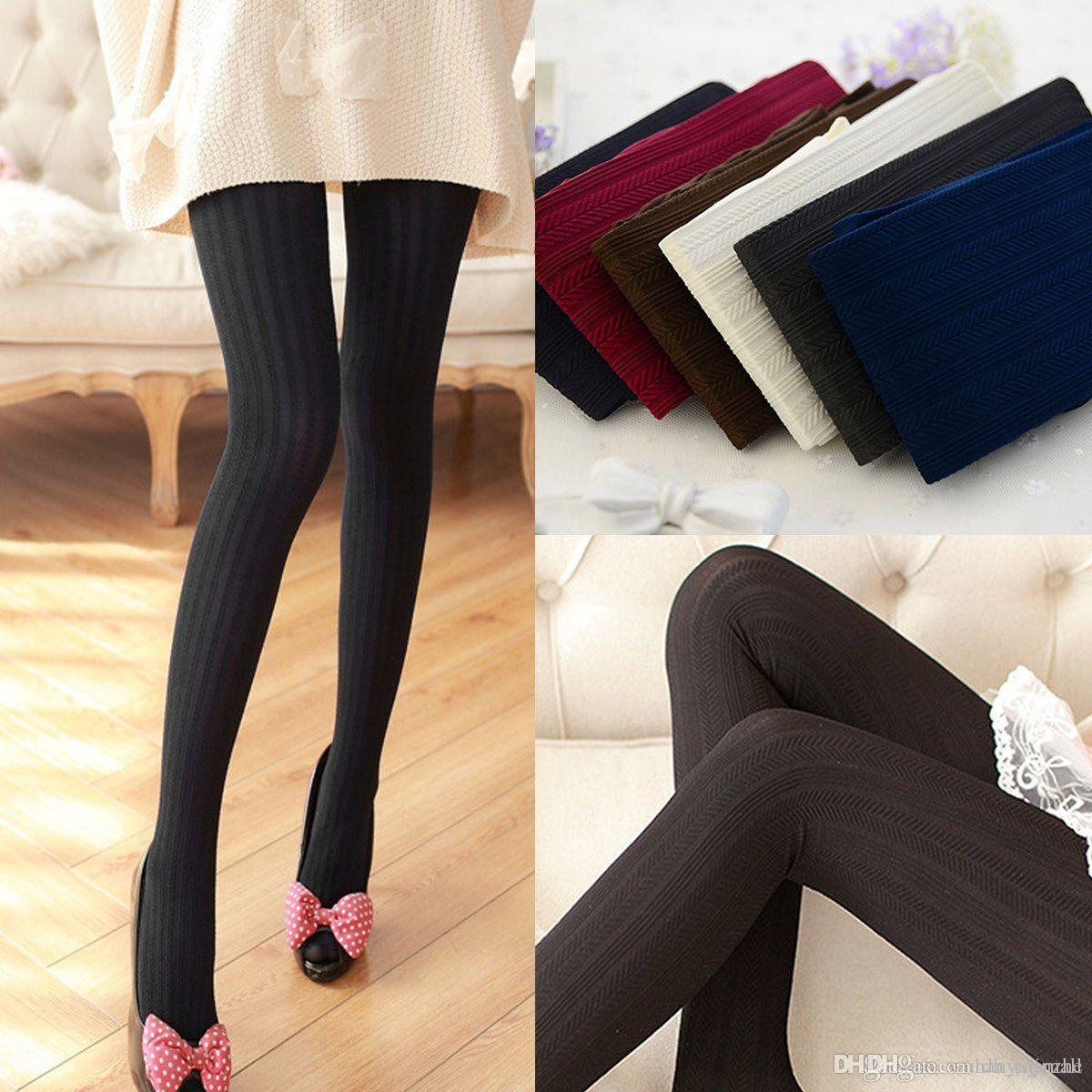 b3f42707792 2019 2016 Autumn Winter Women Tights Styles Sexy Women Cotton Pantyhose  Black Gray Foot Female Leggings Fashion Slim Tights CL083 From Dh topmall