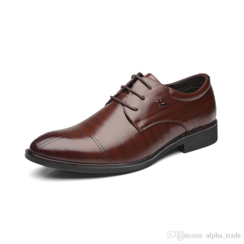 Oxford Appartements Habillée L Marque Zapatillas Tendance Angleterre Mâle Hommes Robe Décontractées Cuir Chaussures nmw80N