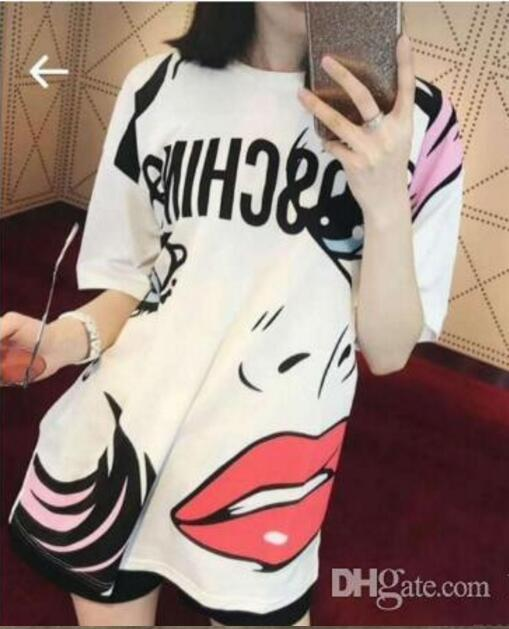 Luxury designer T-shirt summer clothing eyes lip simple animal print fashion tshirt tee top Europe women Brand cotton t shirts