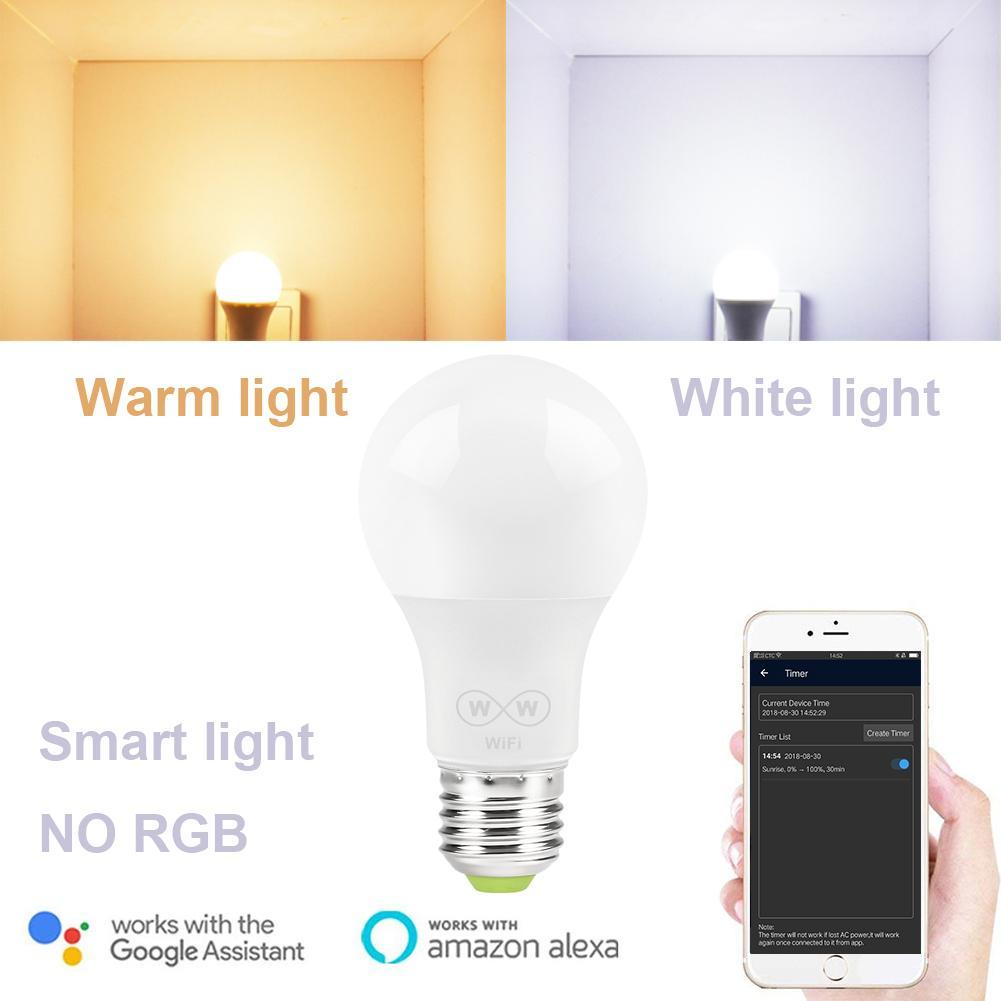 Alexa Lampe w Led Wifi Lumière Blanche Et Google E27 Uniquement 6 Rvb Avec Homekit Sans Travailler Assistant Ampoule Smart Chaud BdCeEorWQx