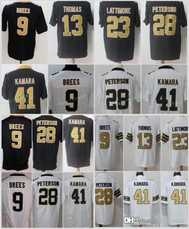2019 New Orleans Saints 41 Alvin Kamara Jersey Men S 9 Drew Brees 13  Michael Thomas 23 Marshon Lattimore 28 Adrian Peterson Football Jerseys  From Fair Trade ... 6d276ba9a