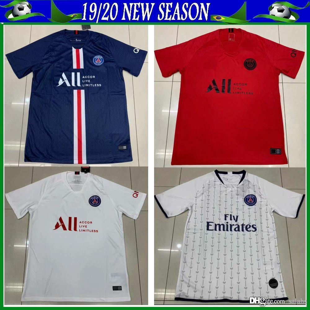 new products a270e fb1c8 Paris soccer jersey 2019/2020 new season psg soccer shirt MBAPPE CAVANI  VERRATTI Football Shirt MBAPPE soccer jerseys
