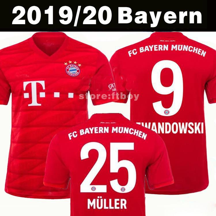 new product a226f 8e194 Top Thailand Bayern Munich JAMES RODRIGUEZ Soccer jersey 2018 2019 2020  LEWANDOWSKI MULLER KIMMICH jersey 18 19 20 HUMMELS Football shirt