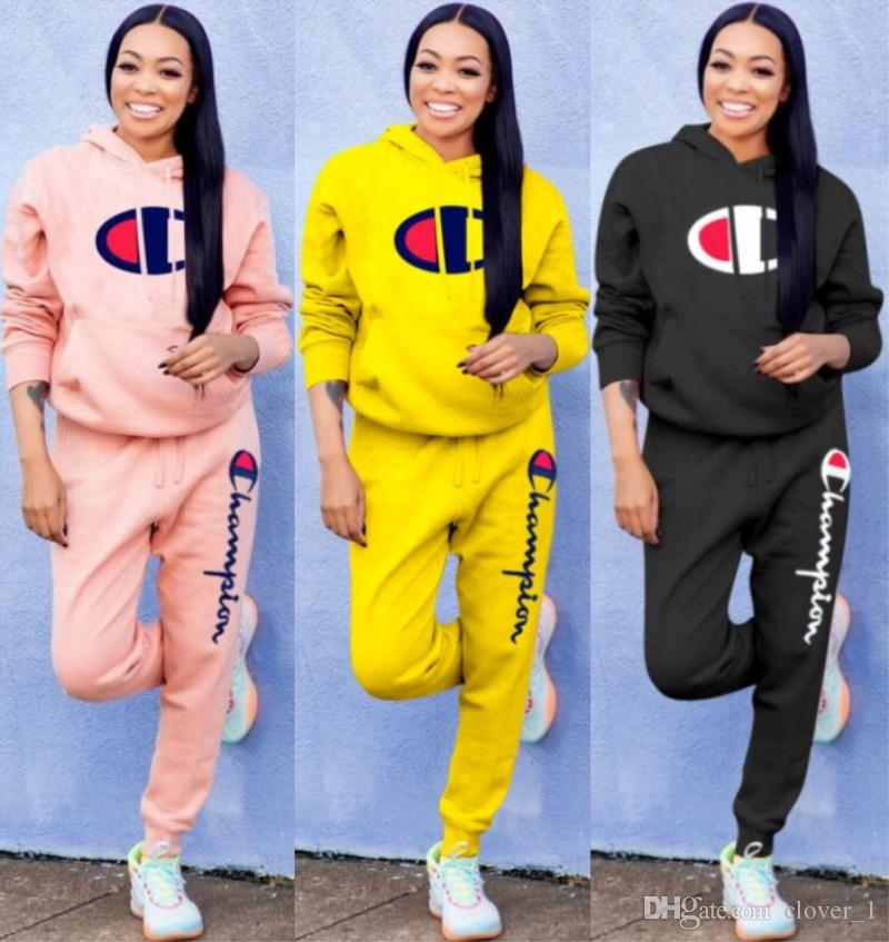 women designer tracksuit long sleeve outfits shirt pants 2 piece set skinny shirt tights sport suit pullover pants hot selling 2294