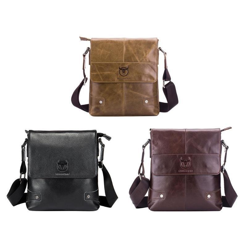 Bullcaptain 2018 MÄnner BerÜhmte Marke Lässige UmhÄngetaschen MÄnnlichen Tasche Mode Aus Echtem Leder Mini Schulter Taschen FÜr MÄnner Seien Sie Im Design Neu Home