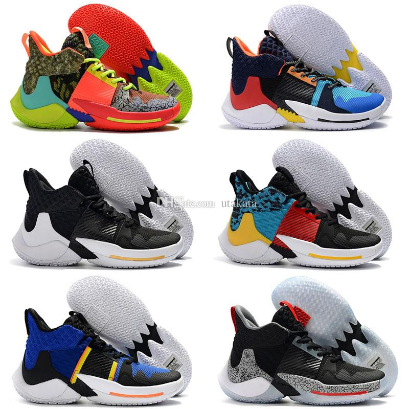 7d5d33c8e78183 2019 New Russell Westbrook 2 Why Not Zer0.2 Thunder Men Basketball Shoes  For Black Super Multicolor Sport Sneakers Shoes Size 40 46 Sports Shoes  Online ...