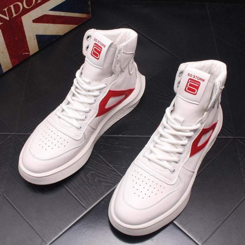 403968d64 Compre ERRFC Designer Mens Branco Conforto Casuais Sapatos De Cima Dedo Do Pé  Redondo Rodada Ankle Boots Respirável Homem Lace Up Sapatos De Rua De Hip  Hop ...