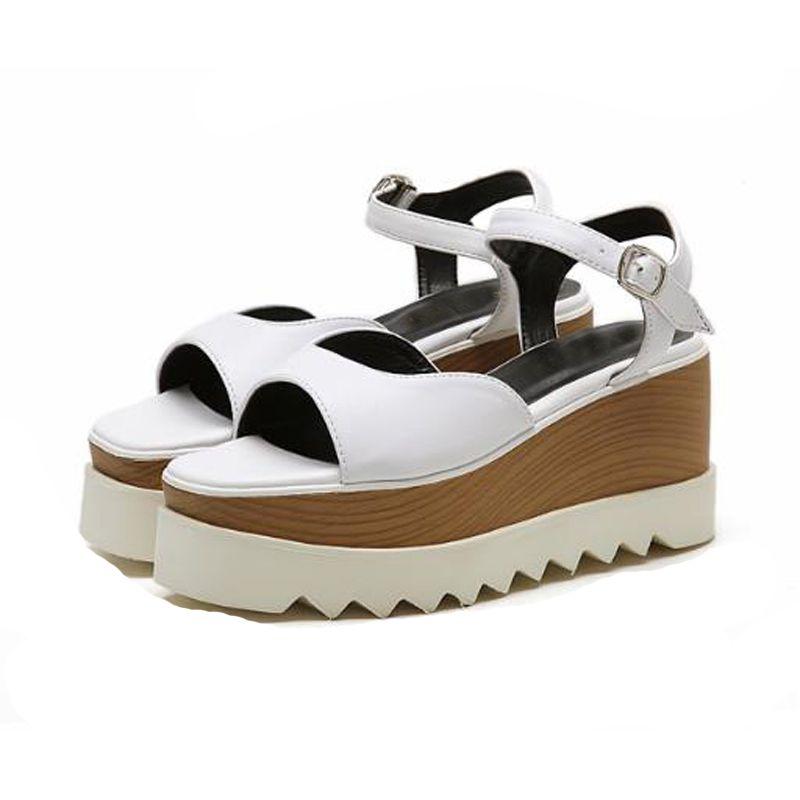 83dc505c6db4 Summer New Women S Wedge High Heel Sandals PU Surface Ladies S Casual  Sandals Hot Sale Sexy Cross Women S Mid Heel Shoes TY 70 Saltwater Sandals  Designer ...