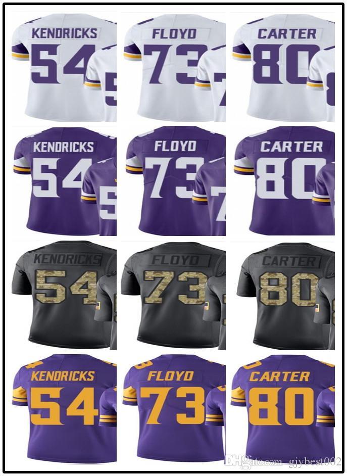 Custom Minnesota Vikings Jerseys 54 Eric Kendricks 73 Floyd 80 Cris ... 4ac82b5b2